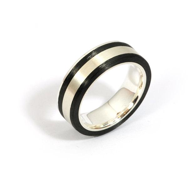 Verlobungsring Silber Carbon (1007269)